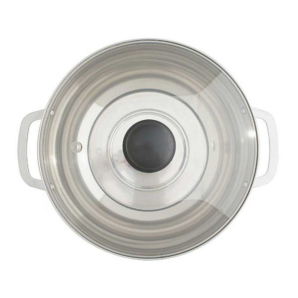 SPT HK-4200B: 3.5L Stainless Steel Pot with Glass Lid