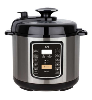 SPT 6.5 Quart Stainless Steel Electric Pressure Cooker with Quick Release Button EPC-13C