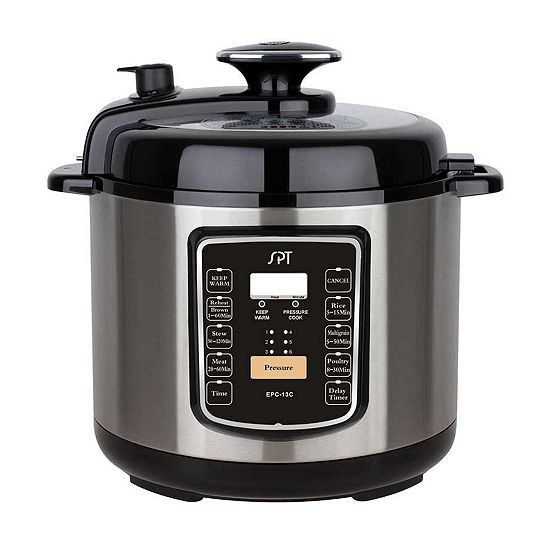 Spt 65 Quart Stainless Steel Electric Pressure Cooker With Quick Release Button Epc 13c