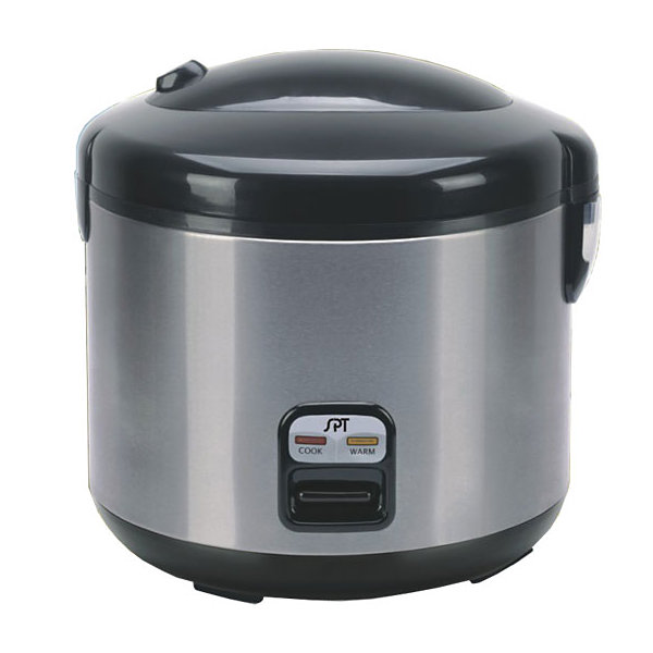 SPT SC-1813SS: 10 Cups Rice Cooker with Stainless Body