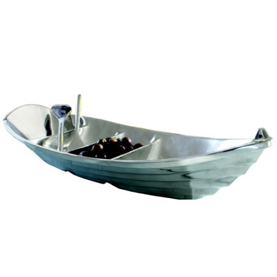 "St. Croix Trading Kindwer 22"" Tropical Boat Tray with 2 Oars as Servers"
