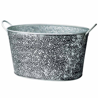 St. Croix Trading Kindwer Antiqued Vine Relief Oval Party Tub