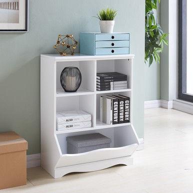 Danya B. Multi-Cubby White Storage Cabinet