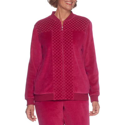 Alfred Dunner Royal Jewels Velour Jacket