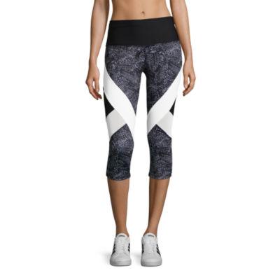 Xersion Modern Tapered Leg Performance Colorblock Capris