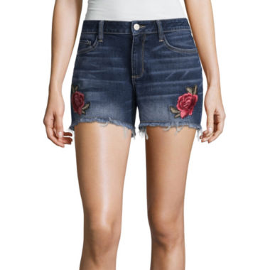 a.n.a Embroidered Cut Off Short
