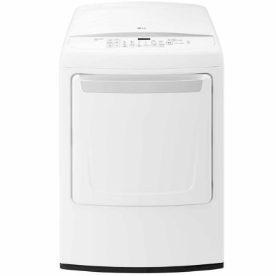 LG ENERGY STAR®  7.3 cu. ft. Ultra-Large Capacity High Efficienty Front Control Dryer with NFC Tag On