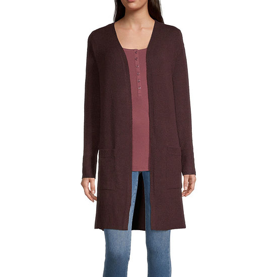 a.n.a-Tall Womens Long Sleeve Open Front Cardigan