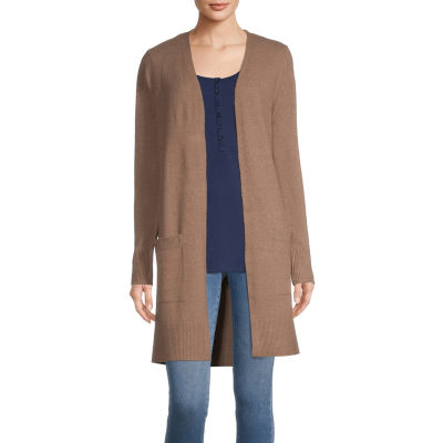 a.n.a. Womens Long Sleeve Cardigan