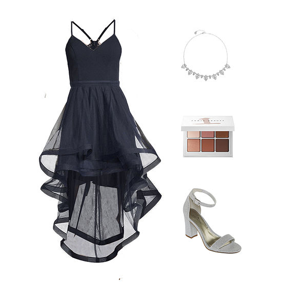 Bewitched Moon: City Triangle Hi-Low Dress & Worthington Heeled Sandals