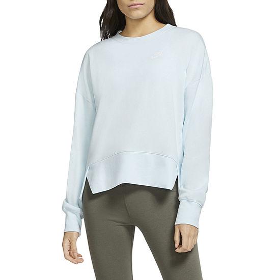 Nike Womens Plus Crew Neck Long Sleeve Sweatshirt