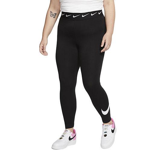 Nike Womens Plus High Rise Full Length Leggings