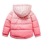 Okie Dokie Toddler Girls Hooded Heavyweight Puffer Jacket
