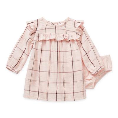 Okie Dokie Baby Girls Long Sleeve Babydoll Dress
