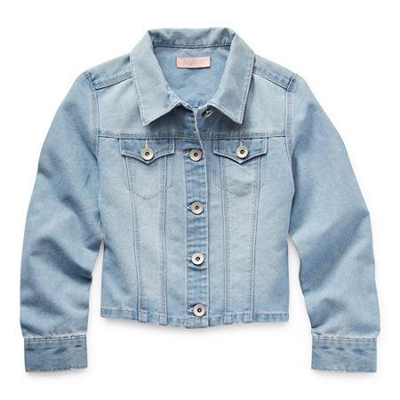 Blue Spice Big Girls Denim Jacket, 7 , Blue