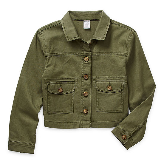 Arizona Little & Big Girls Lightweight Cropped Jacket