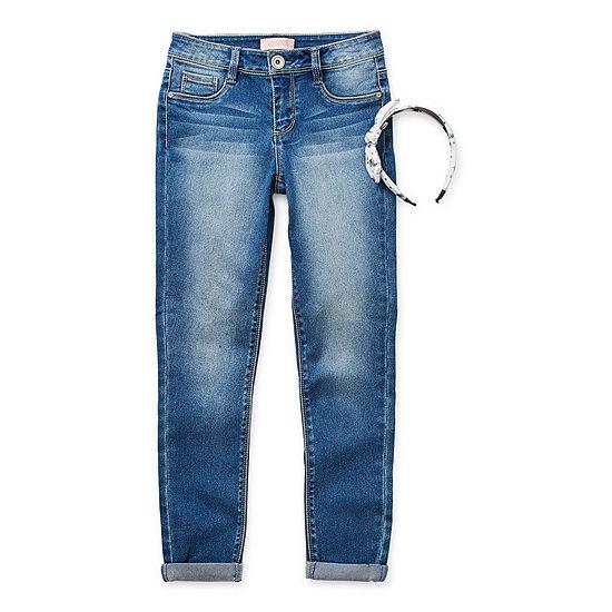 Blue Spice Big Girls Mid Rise Skinny Fit Jean