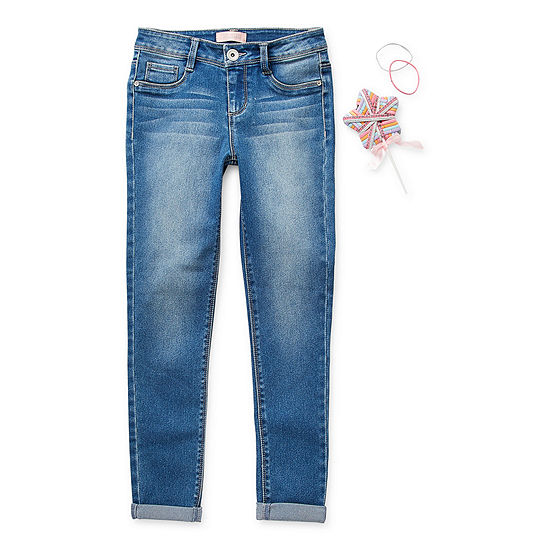 Blue Spice Big Girls Mid Rise Skinny Fit Jean