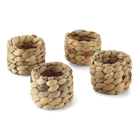 Homewear Pago Natural 4-pc. Napkin Ring