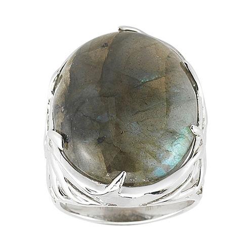 Labradorite Bold Oval Ring