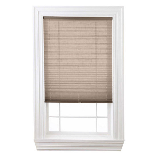"JCPenney Home™ Custom Cordless 1"" Linen Pleated Shade - FREE SWATCH"