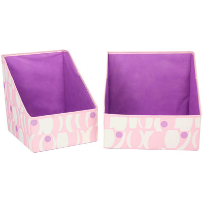 Household Essentials® 2-pc. Accessory Print Storage Bin Set