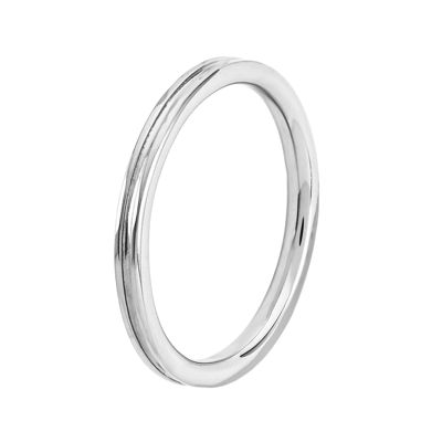 Personally Stackable Sterling Silver Step-Down Ring