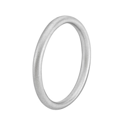 Personally Stackable Sterling Silver Satin Ring