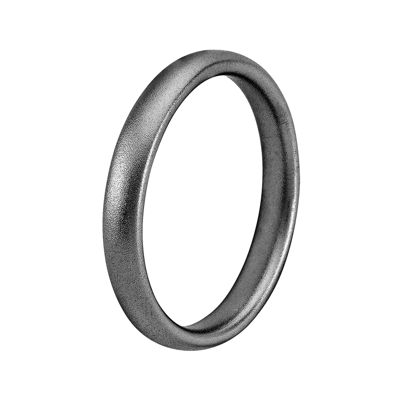 Personally Stackable Black Sterling Silver Square-Edge Satin Ring