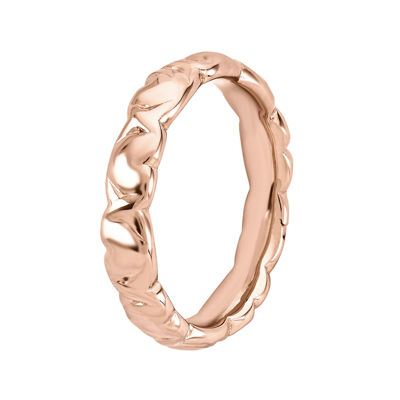 Personally Stackable 18K Rose Gold Over Sterling Silver 4.25mm Heart Ring