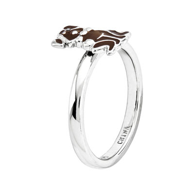 Personally Stackable Sterling Silver Dog Ring