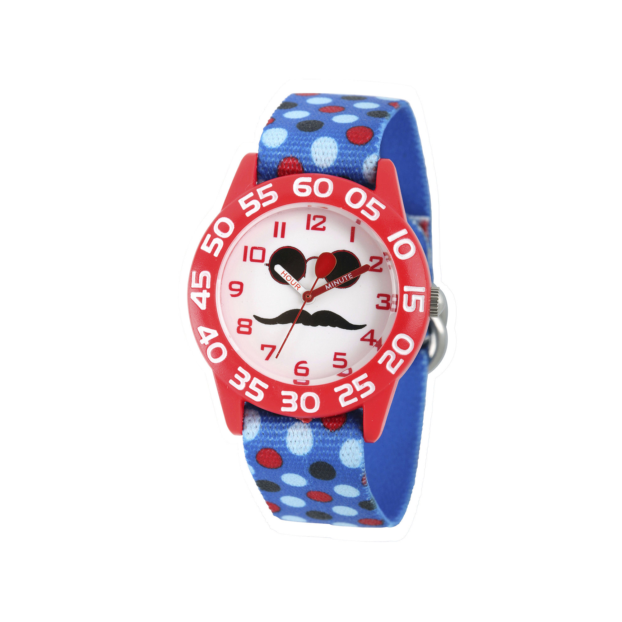 Red Balloon™ Boys Blue Mustache Strap Watch