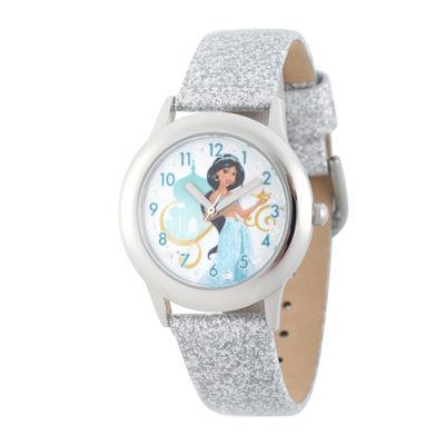 Disney® Girls Silver Jasmine Strap Watch