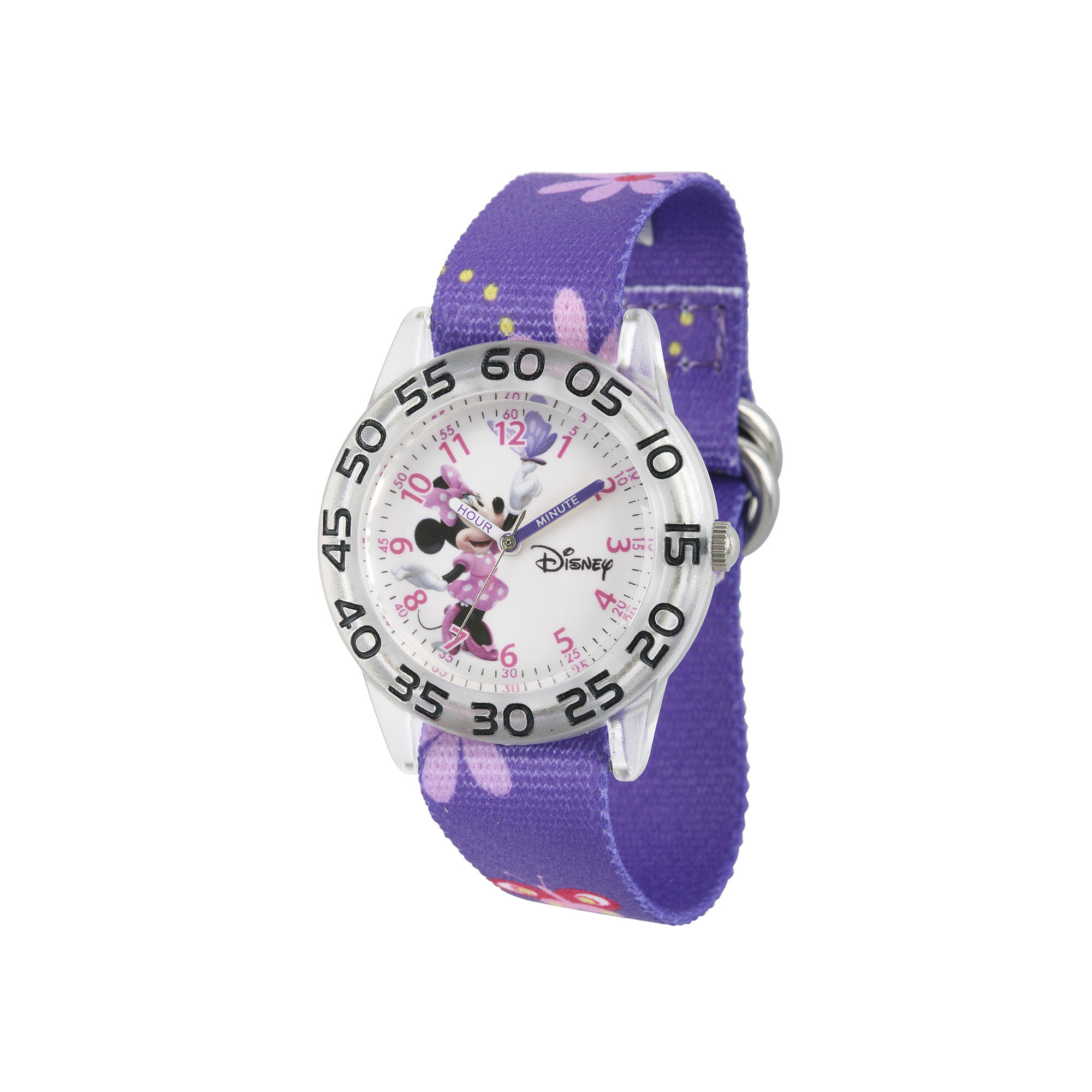 Disney Minnie Mouse Girls Purple Strap Watch