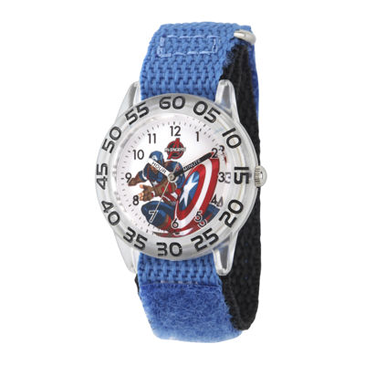 Marvel® Captain America Boys Blue Strap Watch