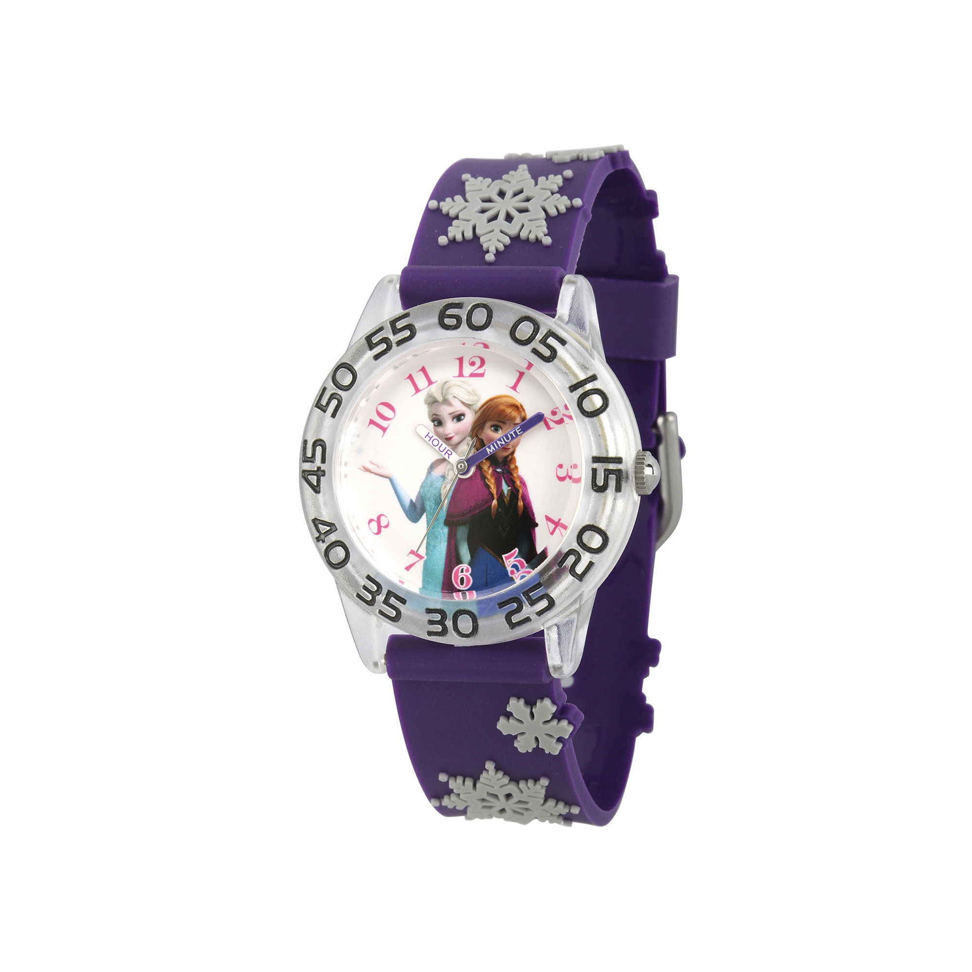 Disney Frozen Girls Purple Snow Strap Watch