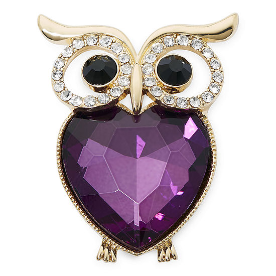 Monet® Crystal Owl Pin