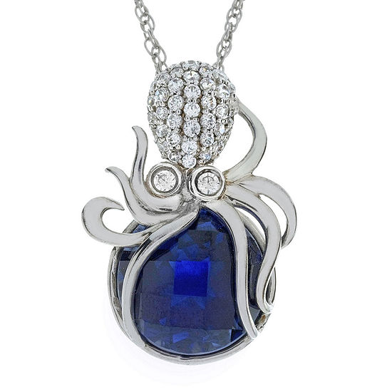 Lab created blue sapphire octopus pendant necklace jcpenney lab created blue sapphire octopus pendant necklace mozeypictures Choice Image