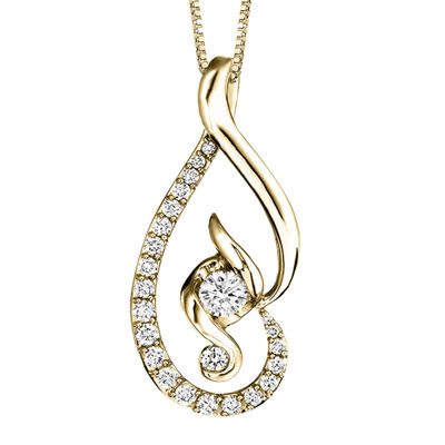 Juno Lucina® 5/8 CT. T.W. Diamond 14K Yellow Gold Pendant Necklace