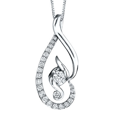 Juno Lucina® 5/8 CT. T.W. Diamond 14K White Gold Pendant Necklace