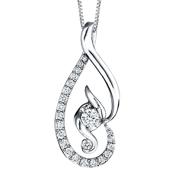 Sirena Collection Juno Lucina 5/8 CT. T.W. Diamond 14K Yellow Gold Pendant Necklace 5fiIBa8NcT