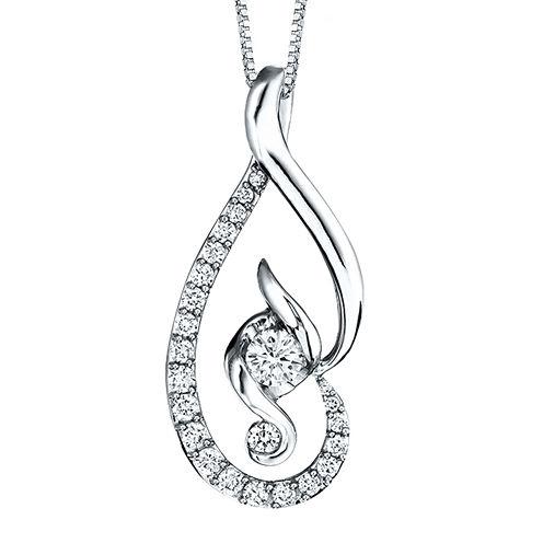 Juno Lucina® 5/8 CT. T.W. Diamond 14K White Gold Pendant Necklace