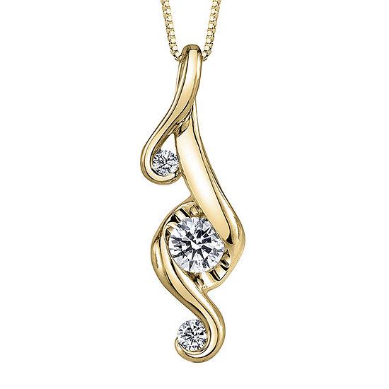 Juno Lucina® 1/3 CT. T.W. Diamond 14K Yellow Gold Pendant Necklace