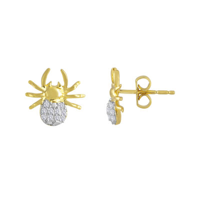 1/10 CT. T.W. Diamond Spider Earrings