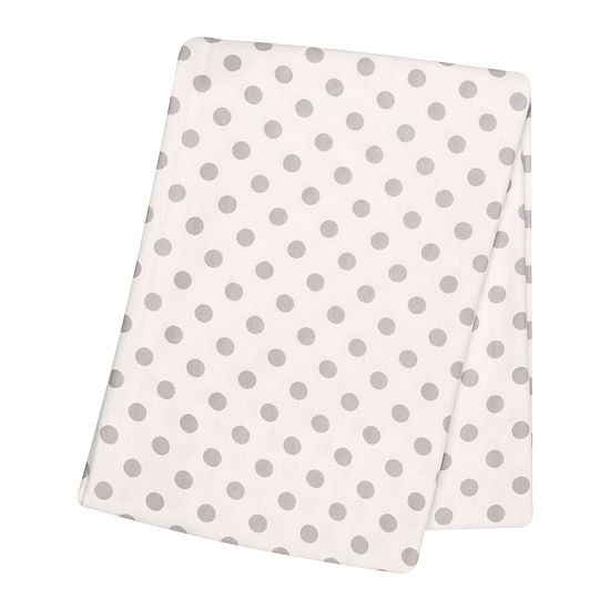 Trend Lab® Gray Dot Deluxe Swaddle Blanket