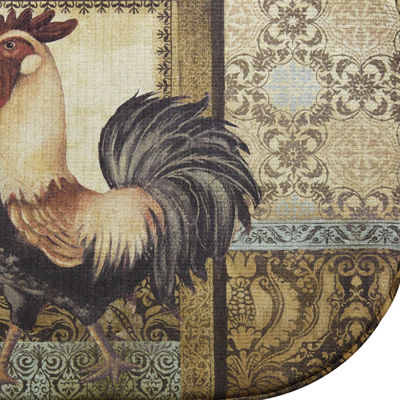 Bacova Rooster in the Back Garden Memory Foam Kitchen Rug