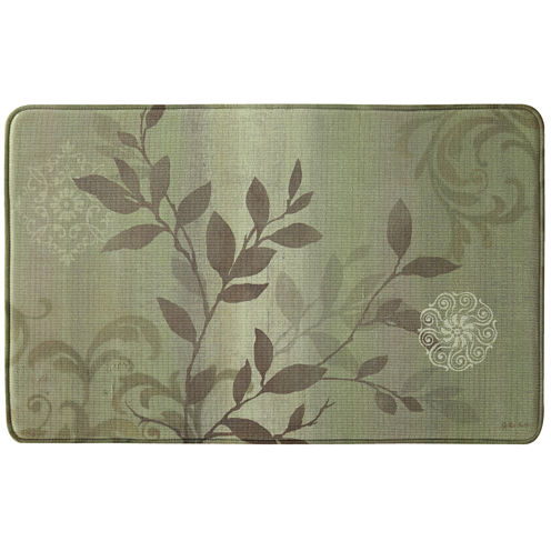 Bacova Branch Swirl Memory Foam Rectangular Rug
