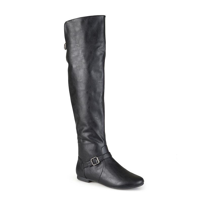 Journee Collection Loft Knee-High Riding Boots - Wide Calf plus size,  plus size fashion plus size appare