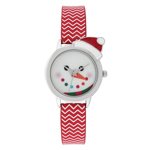 Mixit™ Womens Red Strap Watch