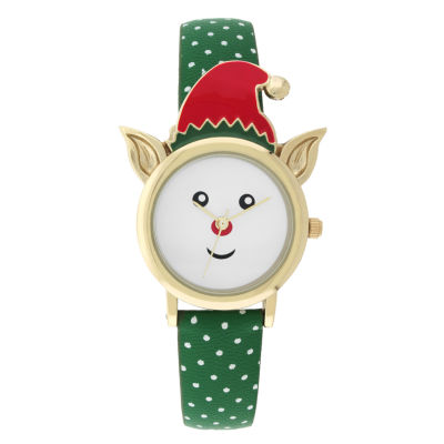 Mixit™ Womens Green Strap Watch